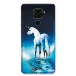 Coque pour Xiaomi Redmi Note 9 - Licorne Lune