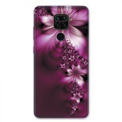 Coque pour Xiaomi Redmi Note 9 - fleur violette montante