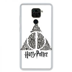 Coque pour Xiaomi Redmi Note 9 - WB License harry potter pattern triangle Blanc