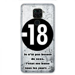 Coque pour Xiaomi Redmi Note 9 - Humour 18 ans