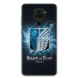 Coque pour Xiaomi Redmi Note 9 - Manga Attaque titans noir