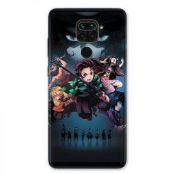 Coque pour Xiaomi Redmi Note 9 - Manga demon Slayer Noir