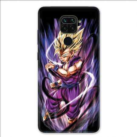 Coque pour Xiaomi Redmi Note 9 - Manga Dragon Ball Sangohan violet