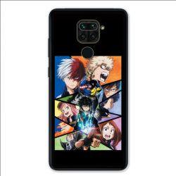 Coque pour Xiaomi Redmi Note 9 - Manga My hero academia noir