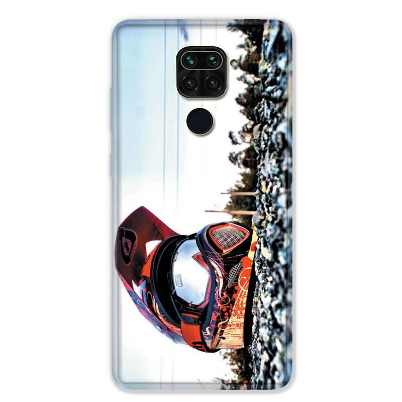 Coque pour Xiaomi Redmi Note 9 - Moto Casque Cross