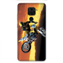 Coque pour Xiaomi Redmi Note 9 - Moto Cross Noir
