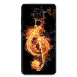 Coque pour Xiaomi Redmi Note 9 - Musique clé sol feu N