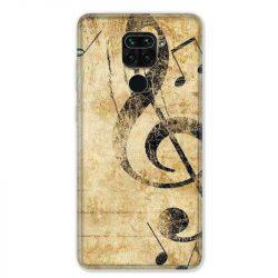 Coque pour Xiaomi Redmi Note 9 - Musique clé sol vintage
