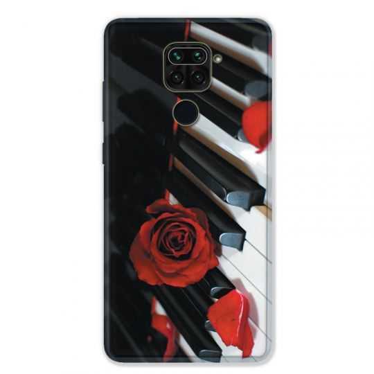 Coque pour Xiaomi Redmi Note 9 - Musique Rose Piano