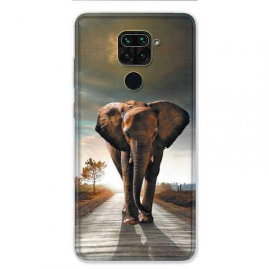 Coque pour Xiaomi Redmi Note 9 - savane Elephant route
