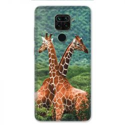 Coque pour Xiaomi Redmi Note 9 - savane Girafe Duo