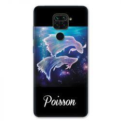 Coque pour Xiaomi Redmi Note 9 - signe zodiaque 2 Poisson