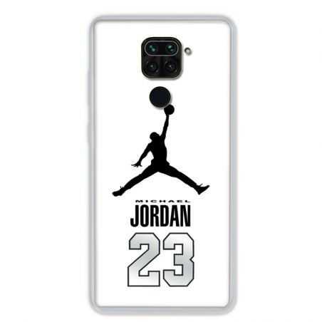 Coque pour Xiaomi Redmi Note 9 - Jordan 23 Blanc