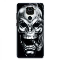 Coque pour Xiaomi Redmi Note 9 - tete de mort Fume
