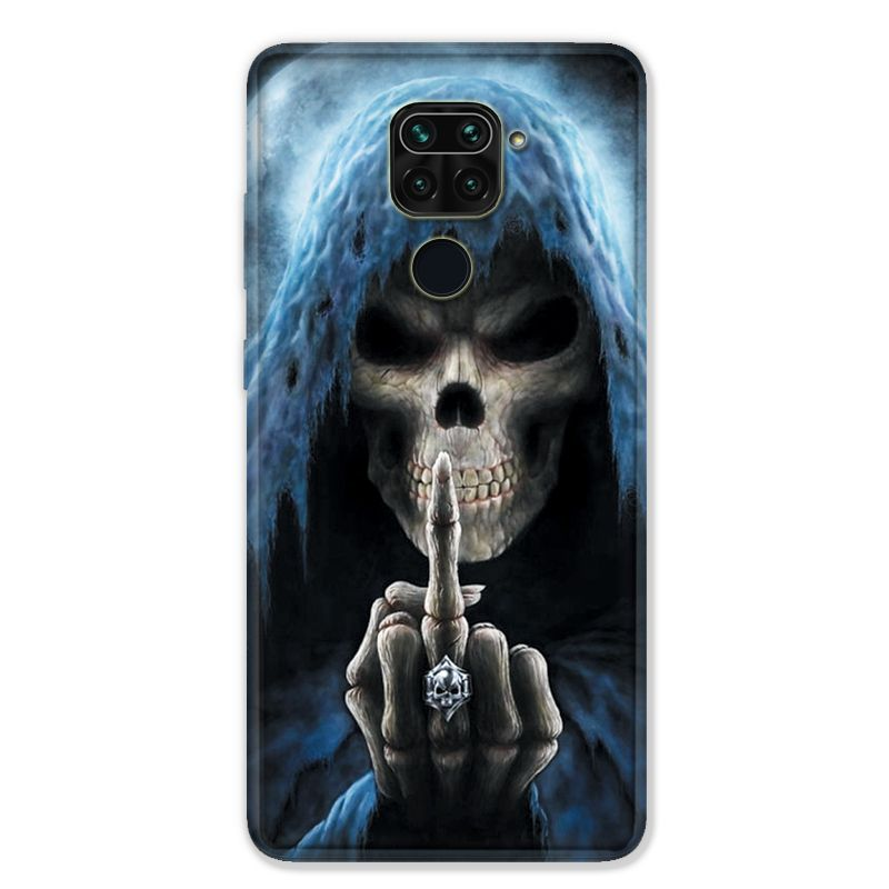 Coque pour Xiaomi Redmi Note 9 - tete de mort Doigt