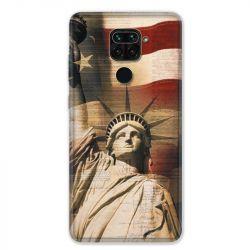Coque pour Xiaomi Redmi Note 9 - Amerique USA Statue liberté