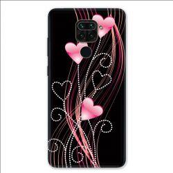 Coque pour Xiaomi Redmi Note 9 - Cœur rose Montant