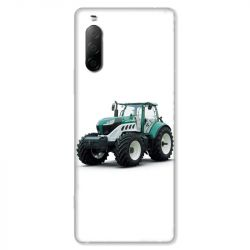 Coque pour Sony Xperia 10 II - Agriculture Tracteur Blanc