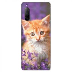 Coque pour Sony Xperia 10 II - Chat Violet