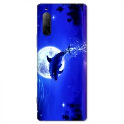 Coque pour Sony Xperia 10 II - Dauphin lune