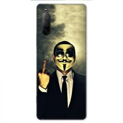 Coque pour Sony Xperia 10 II - Anonymous doigt