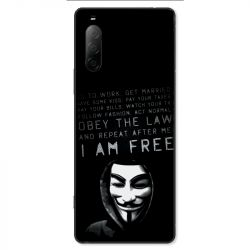 Coque pour Sony Xperia 10 II - Anonymous I am free
