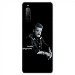Coque pour Sony Xperia 10 II - Johnny Hallyday Noir