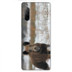 Coque pour Sony Xperia 10 II - chasse sanglier Neige