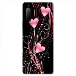 Coque pour Sony Xperia 10 II - Cœur rose Montant