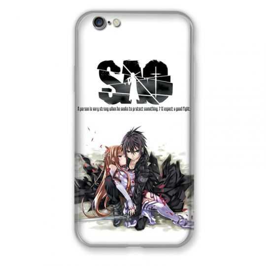 Coque pour iphone 6 / 6s Manga SAO sword Art Online blanc