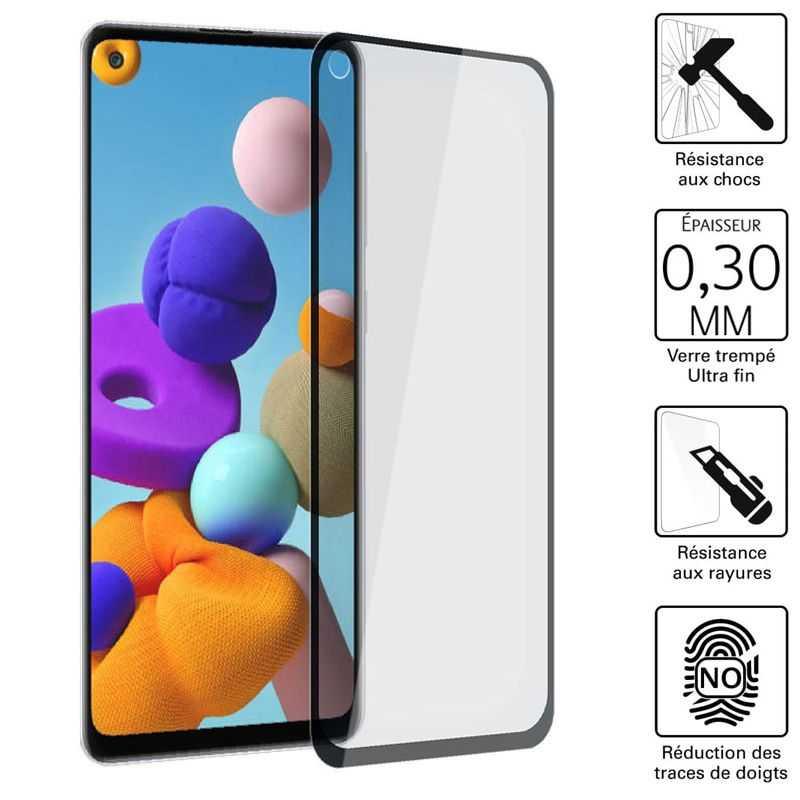 Vitre protection / Verre trempé 3D pour Samsung Galaxy A21S