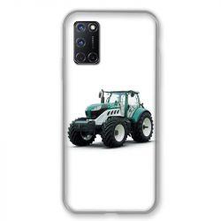 Coque pour Oppo A72 Agriculture Tracteur Blanc
