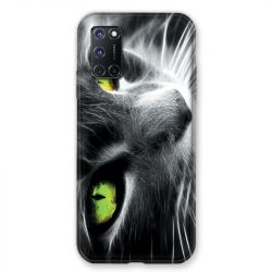 Coque pour Oppo A72 Chat Vert