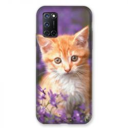 Coque pour Oppo A72 Chat Violet