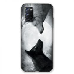 Coque pour Oppo A72 Loup Duo