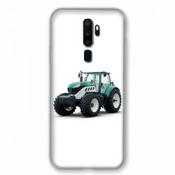 Coque pour Oppo A9 (2020) Agriculture Tracteur Blanc