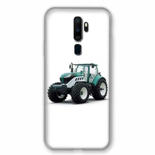 Coque pour Oppo A9 (2020) Agriculture Tracteur Blanc