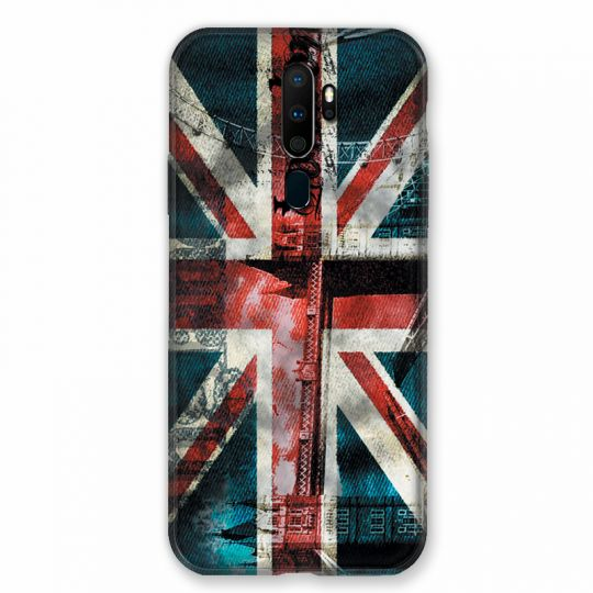 Coque pour Oppo A9 (2020) Angleterre UK Jean's