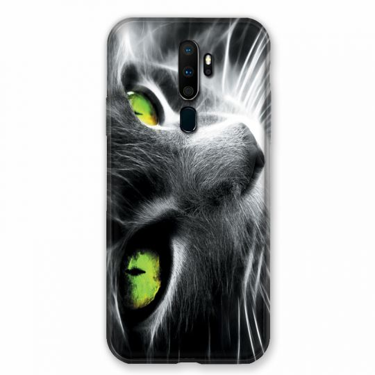 Coque pour Oppo A9 (2020) Chat Vert