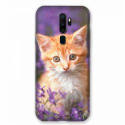 Coque pour Oppo A9 (2020) Chat Violet