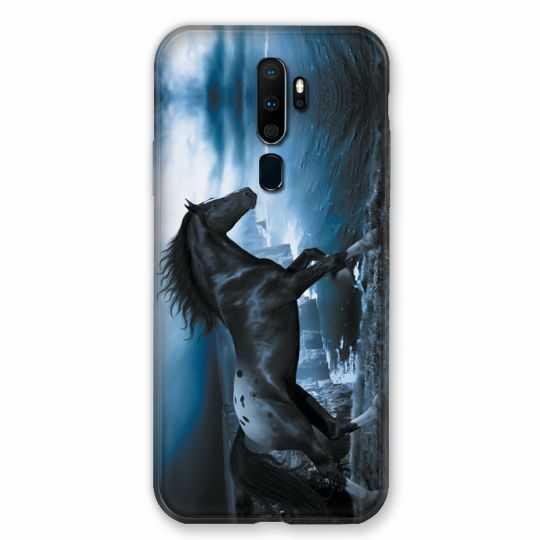 Coque pour Oppo A9 (2020) Cheval Noir