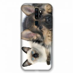 Coque pour Oppo A9 (2020) Chien vs Chat