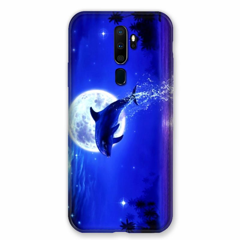 Coque pour Oppo A9 (2020) Dauphin Lune