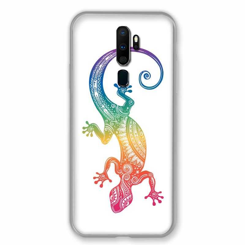 Coque pour Oppo A9 (2020) Animaux Maori Salamandre Color