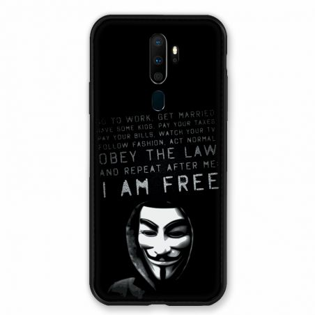 Coque pour Oppo A9 (2020) Anonymous I am free