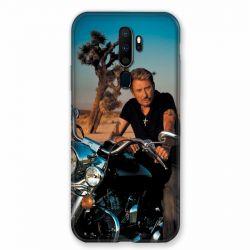 Coque pour Oppo A9 (2020) Johnny Hallyday Moto