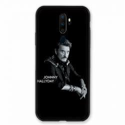 Coque pour Oppo A9 (2020) Johnny Hallyday Noir