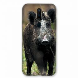 Coque pour Oppo A9 (2020) Chasse Sanglier bois