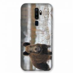 Coque pour Oppo A9 (2020) Chasse Sanglier Neige