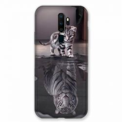 Coque pour Oppo A9 (2020) Chat Reflet